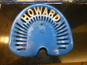 Howard Gp2 Vintage Cast Iron Tractor Implement Seat Farm Collectables
