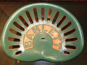 Bamlett Vintage Cast Iron Tractor Implement Seat Farm Collectables