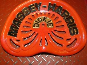 Massey Harris Vintage Cast Iron Tractor Implement Seat Farm Collectables