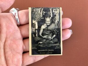Picture Buddhist Monk Thai Amulet Lp Pern Tiger Magic Power Protect Luck Wealth