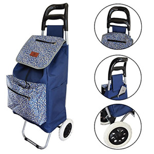 Lightweight Folding Laundry Shopping Grocery Utility Trolley Foldable Cart