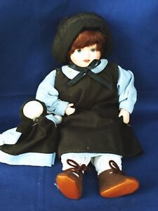 Antique Primitive Amish Girl Doll With Raggedy Ann Baby Look Alike 10 M17