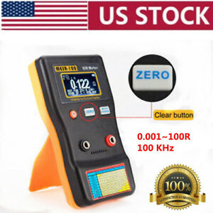 Professional Mesr100 V2 Ranging In Circuit Esr Capacitor Tester Meter 0 001 100r