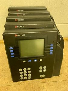 Lot Of 5 Kronos System 4500 Time Management Clock Biometric 8602800 501 Parts