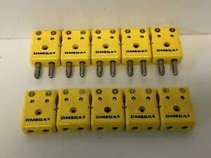5 Sets Omega Thermocouple Connectors Large Pin Negative 5 Pc Male