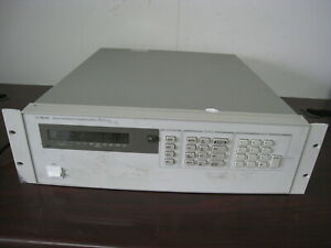 Hp Agilent 6624a System Dc Power Supply 4x 40w Channels 120v In 7 20 50vdc Out