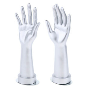 Left And Right Hands Display Base Gloves Jewelry Model Stand Home Decor