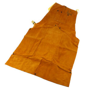 Leather Apron Welding Apron Cowhide Leather Chest Protector Apron