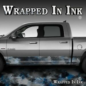 Rocker Panel Wrap Chameleon Camo Truck Side Decals Black Blue Camouflage A46rp 2