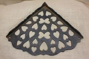 10 Corner Shelf Bracket Hearts Butterfly Cutouts Old Vintage Rustic Cast Iron