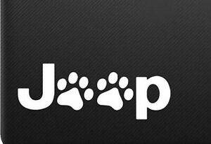 Jeep Cat Dog Paw Sticker Decal Notebook Car Laptop 6 white