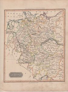1817 Two Antique Maps Germany Eastern Prussian States Sduk Thomas Ewing