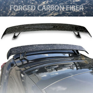 Universal Fitment Rear Trunk Lip Wing Forged Carbon Fiber Cf