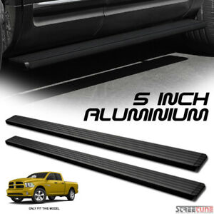 5 Matte Black Aluminum Step Bar Running Boards For I4 09 18 Ram 1500 Extended