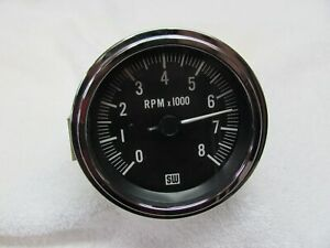 Stewart Warner 8k Electric Tachometer Model 481hk Chrome Bezel 3 3 8 Mount