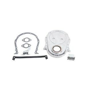 Edelbrock 4241 66 90 Big Block Chevy Bbc Polished Aluminum Timing Chain Cover