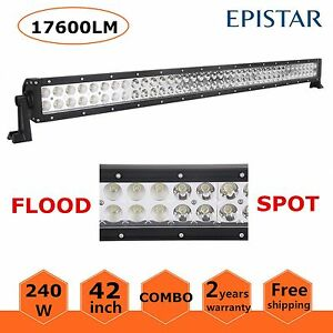 42inch 240w Led Work Light Bar Combo Offroad Suv Jeep Truck Driving Lamp 12v 24v