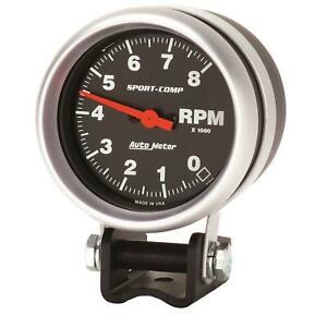 Autometer Sport comp Mini Tachometer 0 8 000 2 5 8 Dia Black Face 3708