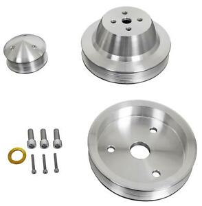 March Performance Pulley Kit Serpentine Aluminum Clear Chevy Big Block Kit 23010
