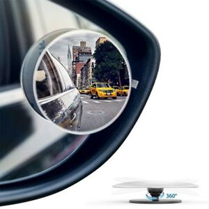 Convex Blind Spot Mirrors Stick On Rear View 360 Adjustable Car Truck Auto
