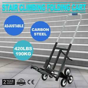 Portable Stair Climbing Folding Cart Climb All terrain 6 Wheels 190kg 420lbs