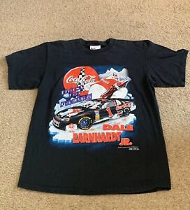1998 Vintage Coca-Cola T-Shirt Coke Logo Graphic XL Dale Earnhardt Jr Polar Bear