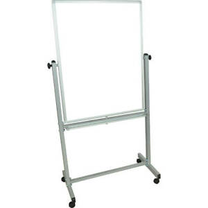 Luxor Double Sided Dry Erase Magnetic Whiteboard 30 X 40 With Rolling Stand