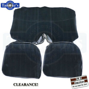 71 77 Camaro Rear Seat Covers Upholstery Standard Custom Cloth Black Clearance
