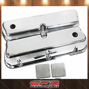 1962 85 Ford Small Block 289 302 351w 5 0l Tall Polished Al Valve Covers Smooth
