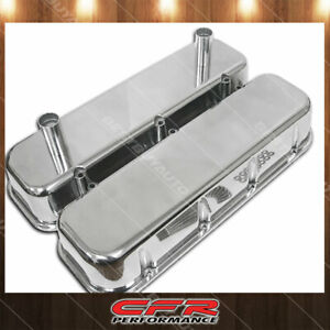 Fits 1965 95 Chevy Big Block Tall Polished Aluminum Racing Valve Covers Smooth