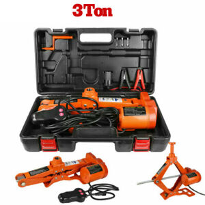 3 Ton 12v Electric Jack All In One Lift Scissor Jack Repair Tool For Car Auto Us