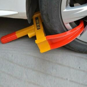 Car Truck Anti Theft Towing Wheel Lock Clamp Boot Tire Claw Trailer Red