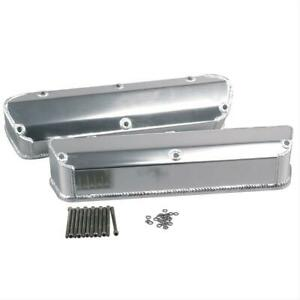 Summit Racing Fabricated Valve Covers 440625 Ford Small Block V8 Clear Anodized