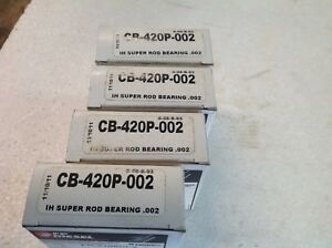 Farmall Ih Size 002 Connect Rod Bearing Set Of 4 Fits H W4 Supers 300 350