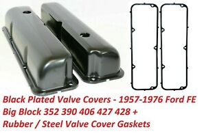 Ford Valve Covers Fe Black 390 427 Rubber Valve Cover Gaskets New Set