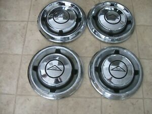 Vintage Corvair Dog Dish Hub Caps Set Of 4