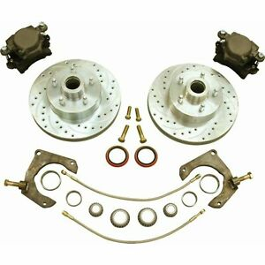 Mustang Ii 2 Front 11 Drilled Rotor Upgrade Disc Brake Kit For No Spindles