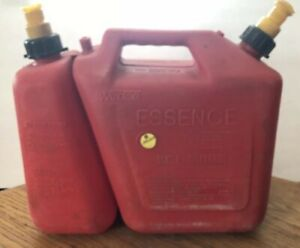 Vintage Wedco Chain Saw Vented Combo Gas bar Oil Dual Spout 2 5 Gallon 4 Qts Can