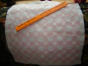 Vintage Light Pink Cotton Small Pillowcases Trim In Off White Hand Crochet Doily