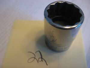 Snap On Swm221 22mm 1 2 Drive 12 Pt Socket No Owners Marks