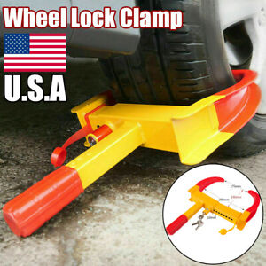 Car Wheel Tire Lock Clamp Boot Anti Theft For Motorcycles Trailer Truck Suv Rv