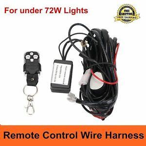 Remote Control Wiring Harness Kit Switch Relay Led Fog Light Bar Kit 12v 40a