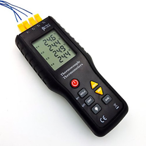 Perfectprime Tc41 4 channel K type Digital Thermometer Thermocouple Sensor