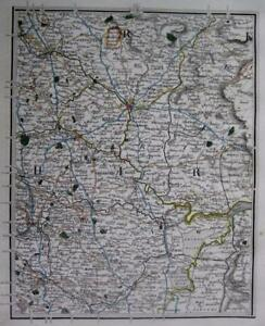 Yorkshire York Tadcaster Barnsley Doncaster John Cary Genuine Antique Map C1824