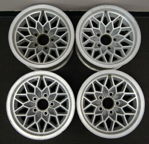 1977 1981 Trans Am Snowflake Wheel Set 4 Used Silver Ws6 15 X 8 5 X 4 75 Rare