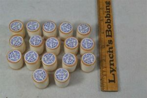 Antique Sewing Thread Wooden Spools Lot Stiles Waxed Thread 17 Pc