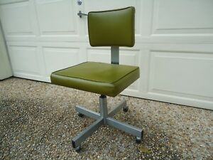 100 Vintage Original All Steel Ind Mid Century Modern Chair Swivel Adj