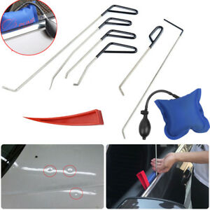 6x Push Rods Tool Whale Tail Paintless Dent Removal Air Pump Wedge For Windows