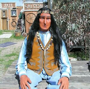 Indian Mannequin Life Size Pose Able Old West Indian Mannequin