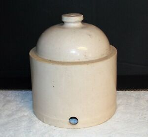 Vintage Stoneware Crock Waterer Chicken Poultry Rustic Farmhouse